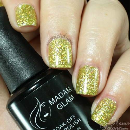 Madam Glam #144 Yellow Holo Swatch