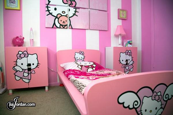 Desain Kamar Tidur Anak Hello Kitty