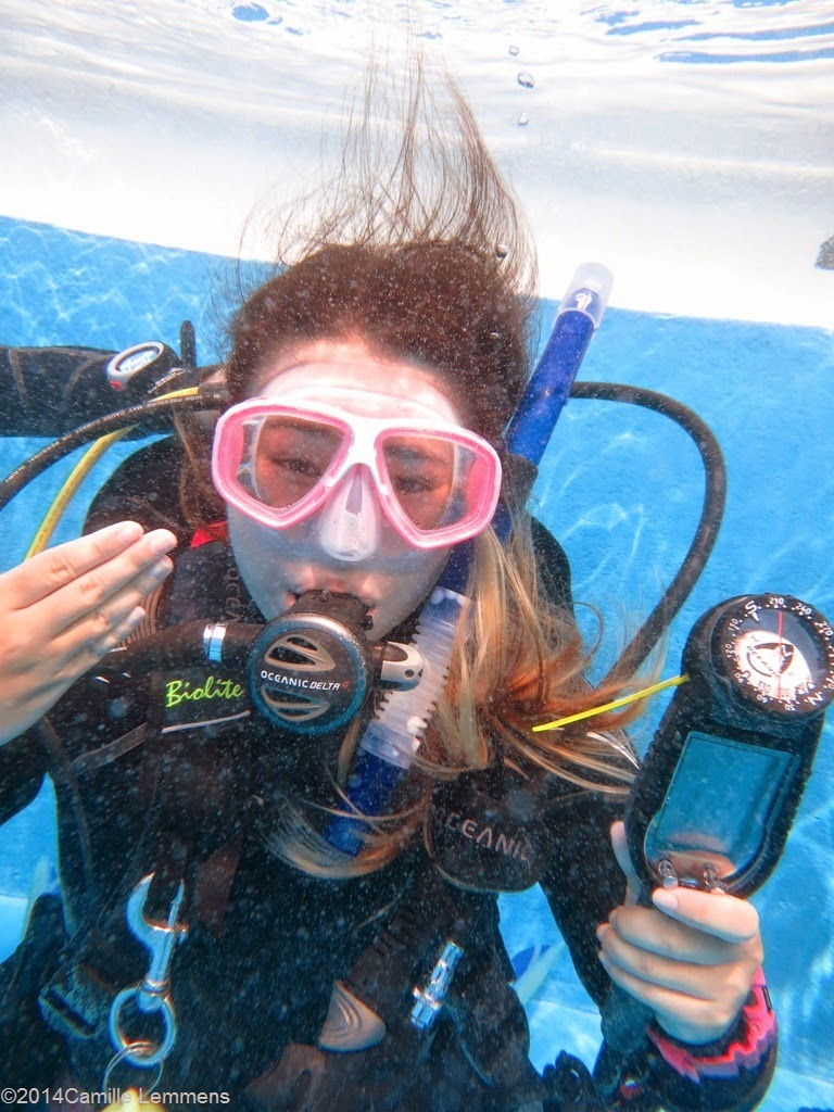 PADI IDC, confined water, air depletion
