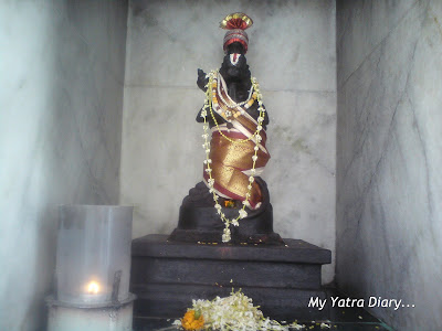 A deity of a Goddess in the Swami Dayananda ashram temple in Rishikesh