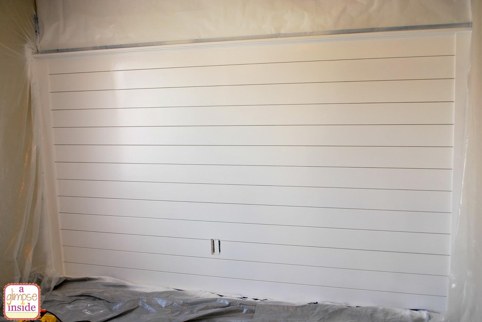A Glimpse Inside Diy Plank Wall