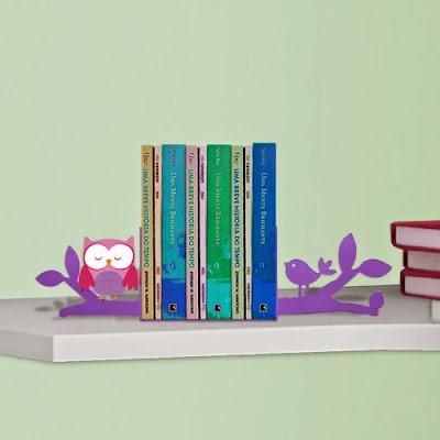 Aparador de Livro Coruja lilás