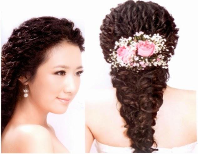 Peinados boda faciles pelo rizado