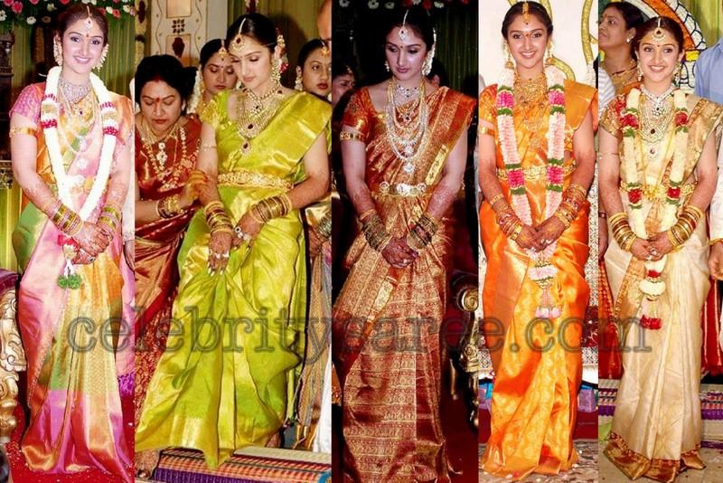 sridevi s traditional bridal sarees   saree blouse patterns