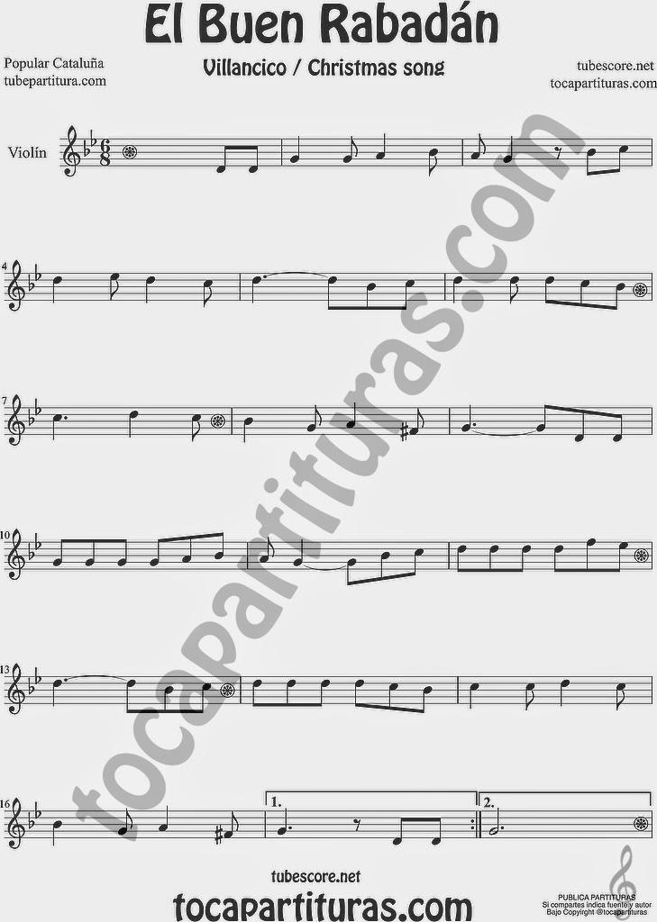 El Buen Rabadán Partitura de Viola Sheet Music for Viola Music Score Villancico Christmas Carol