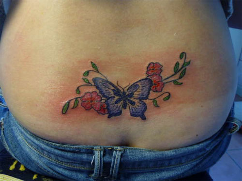 tattoos back tattoos free lower back tattoos butterfly. Black Bedroom Furniture Sets. Home Design Ideas