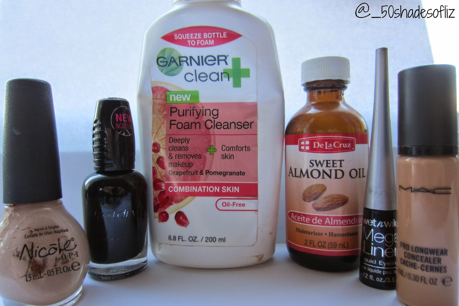 Empties post with Mac prolongwear concealer, wet n wild eyeliner, garnier skincare and nicole by O.P.I nail polish