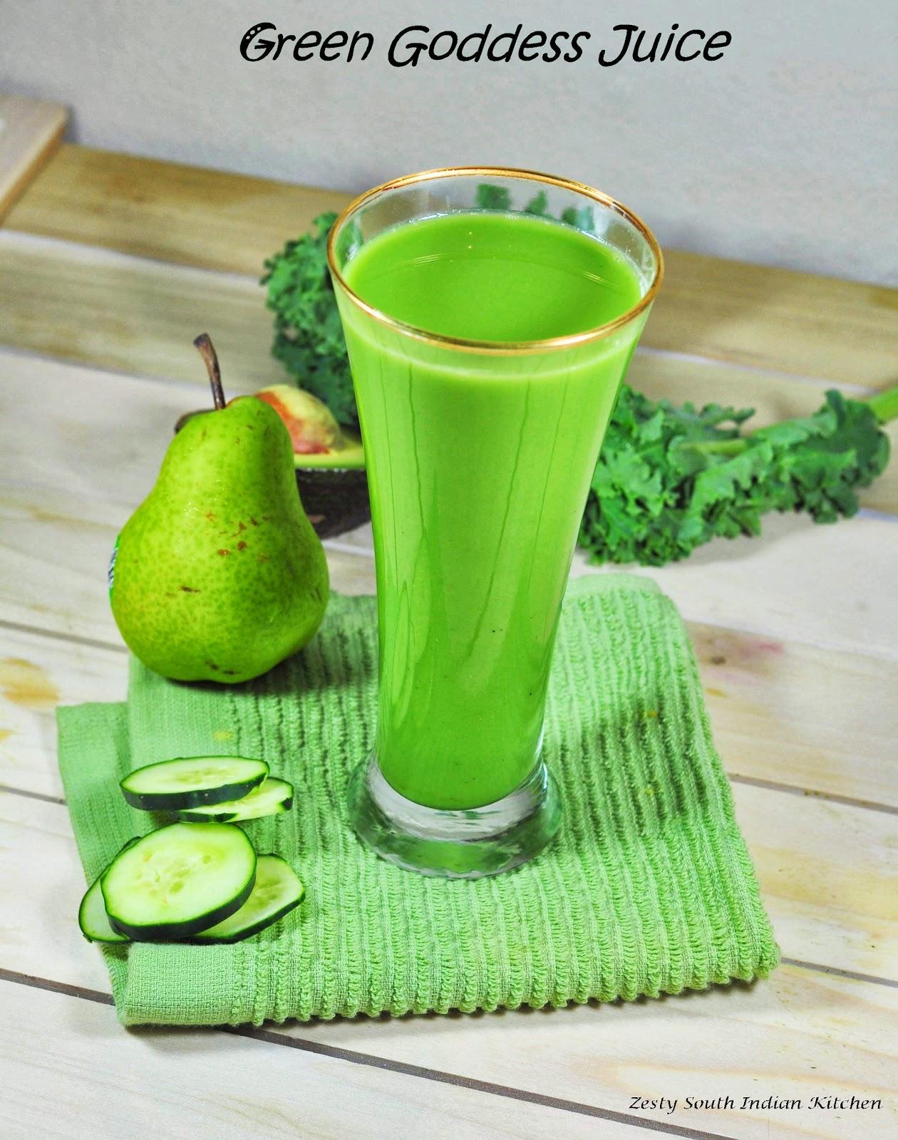 Green Goddess Juice Healthy Detox Diabetic Friendly Zesty South
