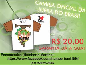 CAMISA OFICIAL DA JUFRA DO BRASIL