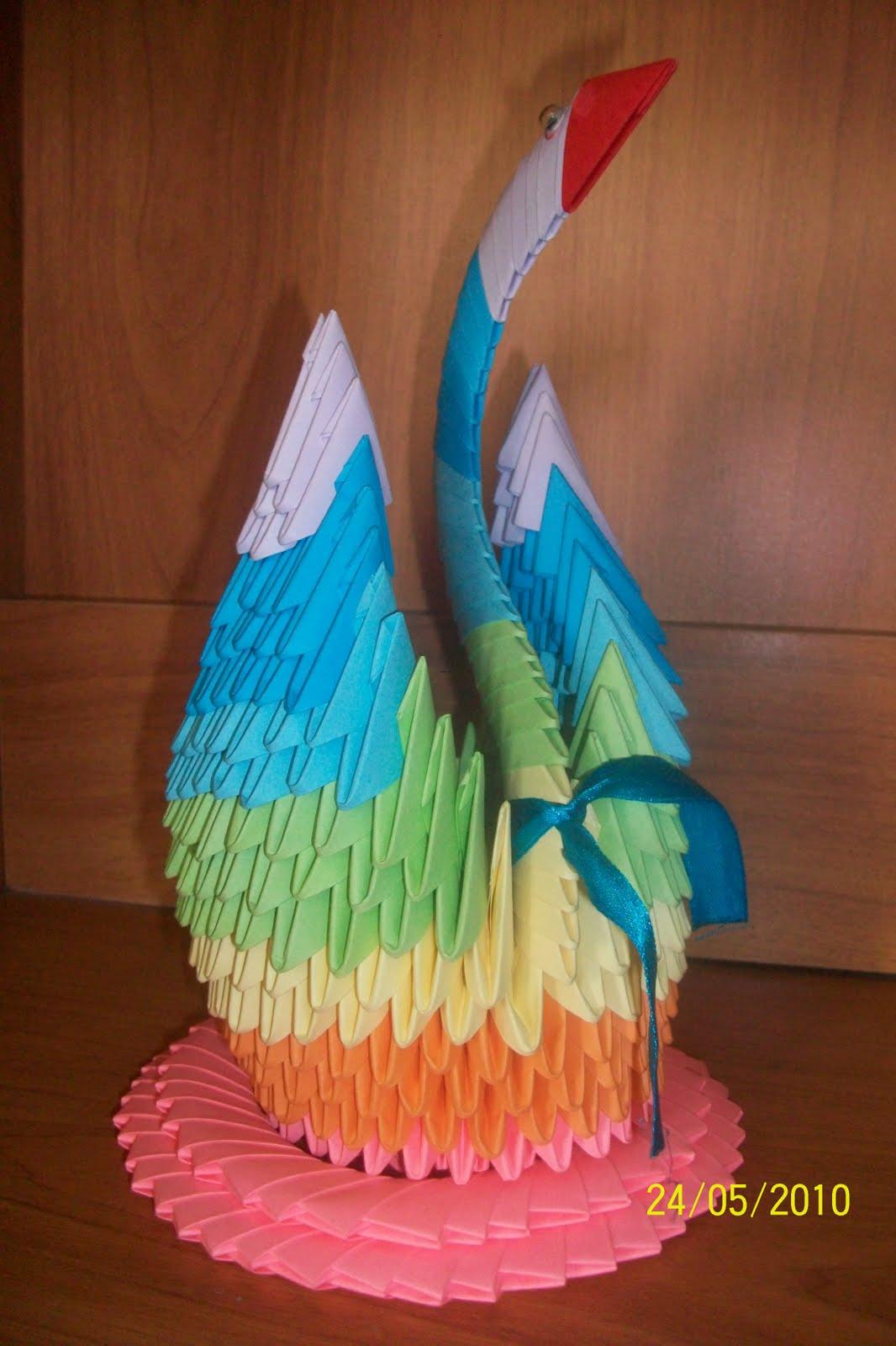 Модульная оригами с пошаговым фото лебедь