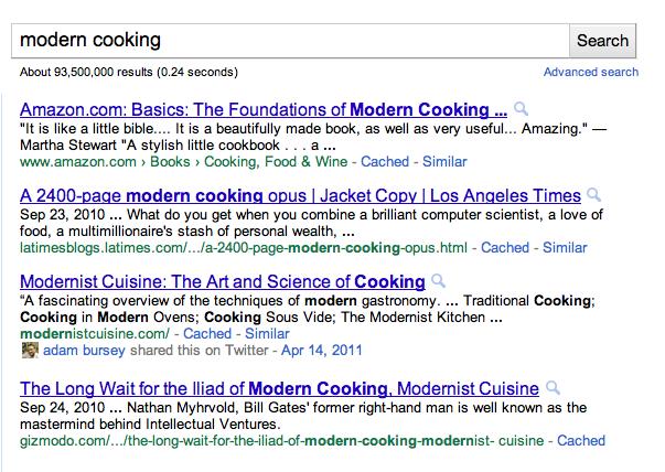 Soziale Suche-Kochen