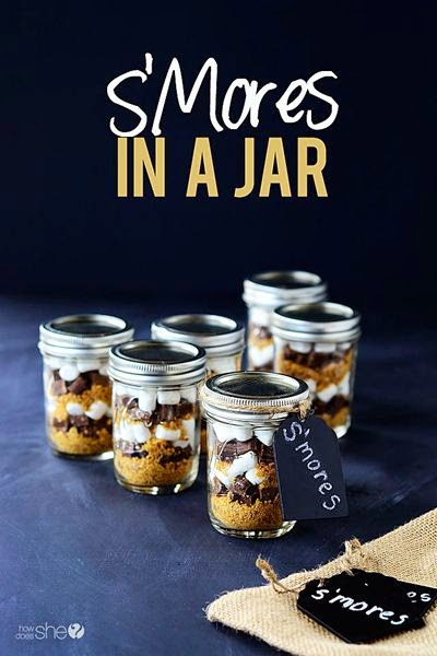 10 Ways To Eat S'mores Without A Campfire; s'mores in a jar