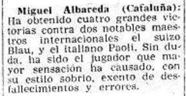 Fragmento de un artículo de Ricardo Guinart en Mundo Deportivo: 18/6/1954