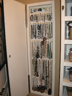 Custom Jewelry Storage Cabinet Built in Wall
