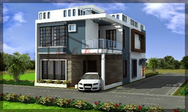 Nakshewalacom MODERN DUPLEX HOUSE DESIGN WITH 3 BEDROOM IN 1250