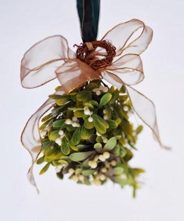 A silk flower depot blog hanging mistletoe over rhe doorway sunday december 15 2013 mightylinksfo