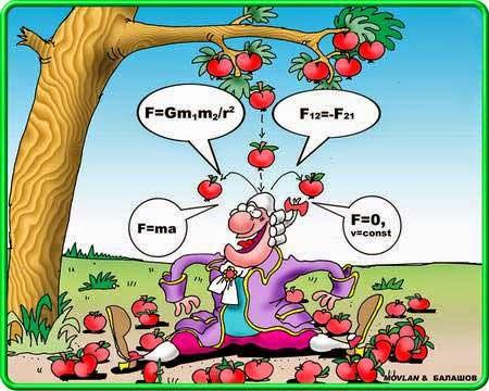 isaac newton's apple funny comic