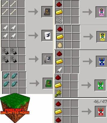 Digimobs Mod digimons craftings