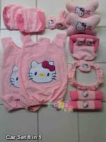 Bantal mobil set 8 in 1 hello kitty