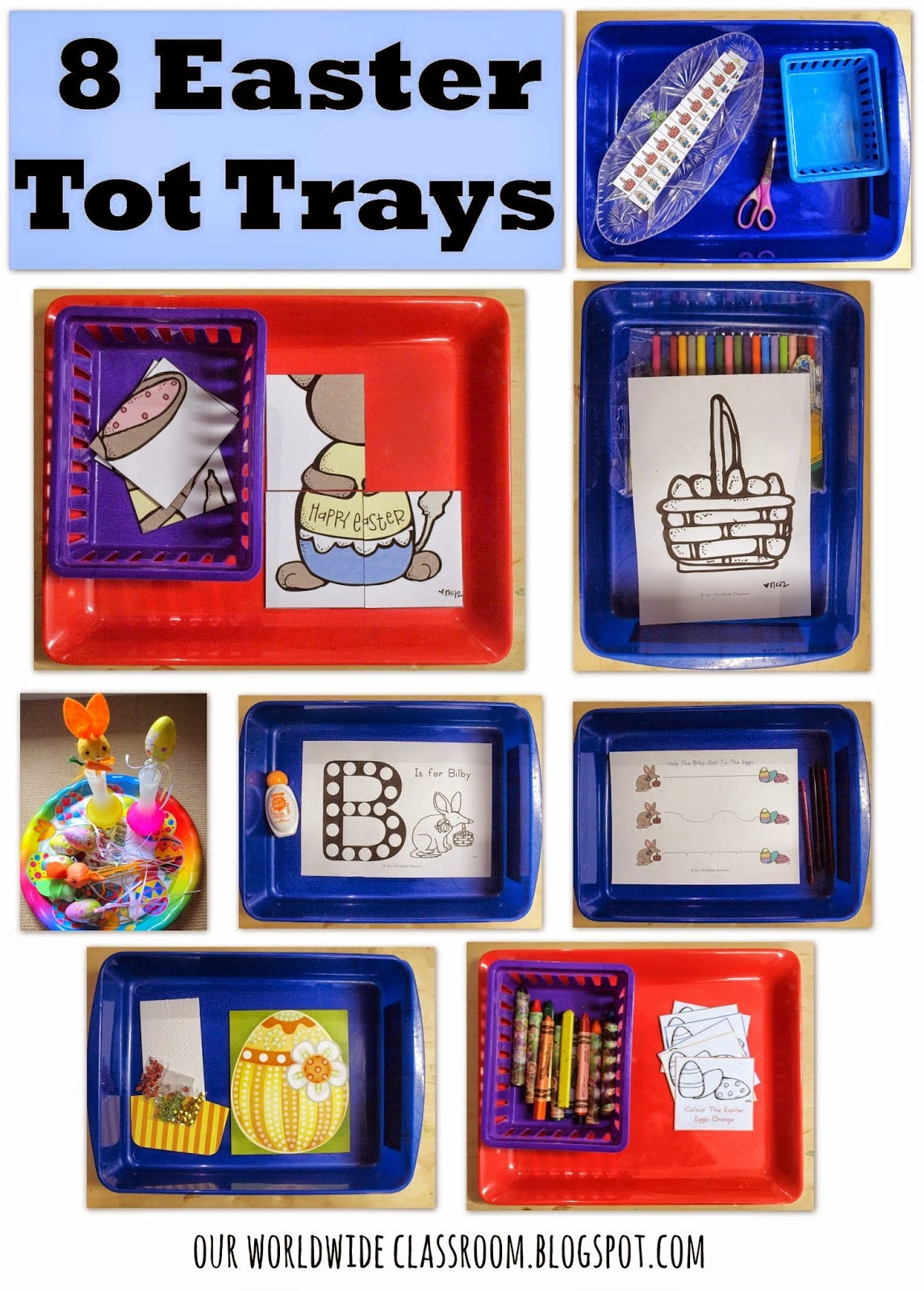 easter tot trays easter montessori trays