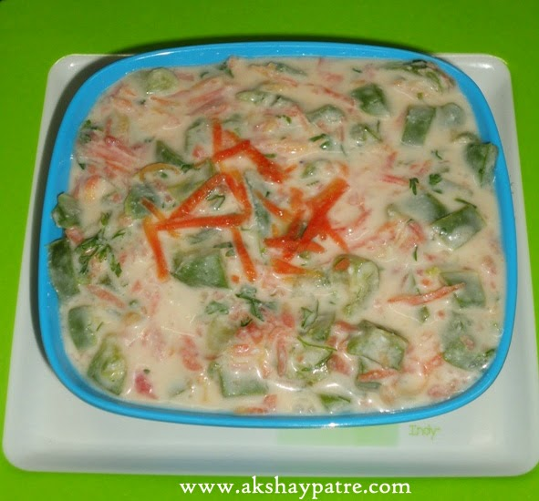 vegetable based raita