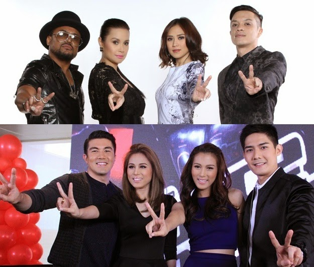 The Voice of the Philippines Season 2 coaches and hosts
