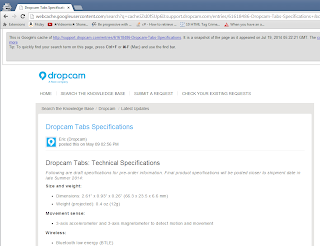 Dropcam_Tabs_Specifications