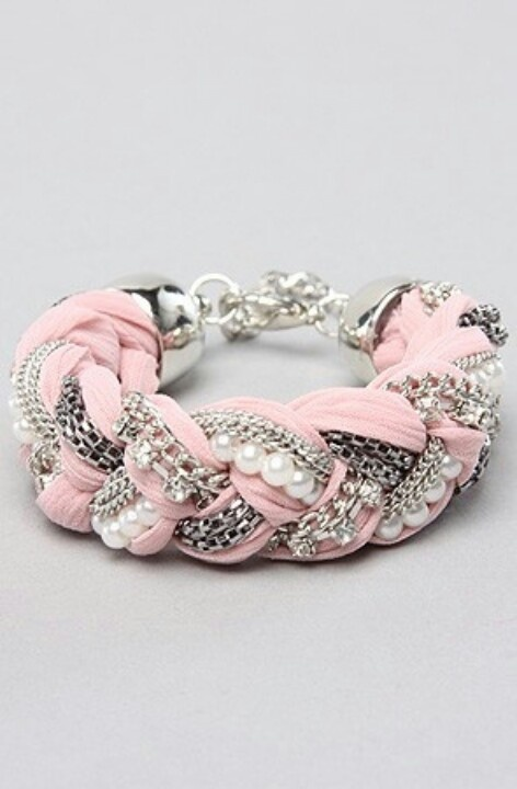 Beautiful Braided Pink Bracelet