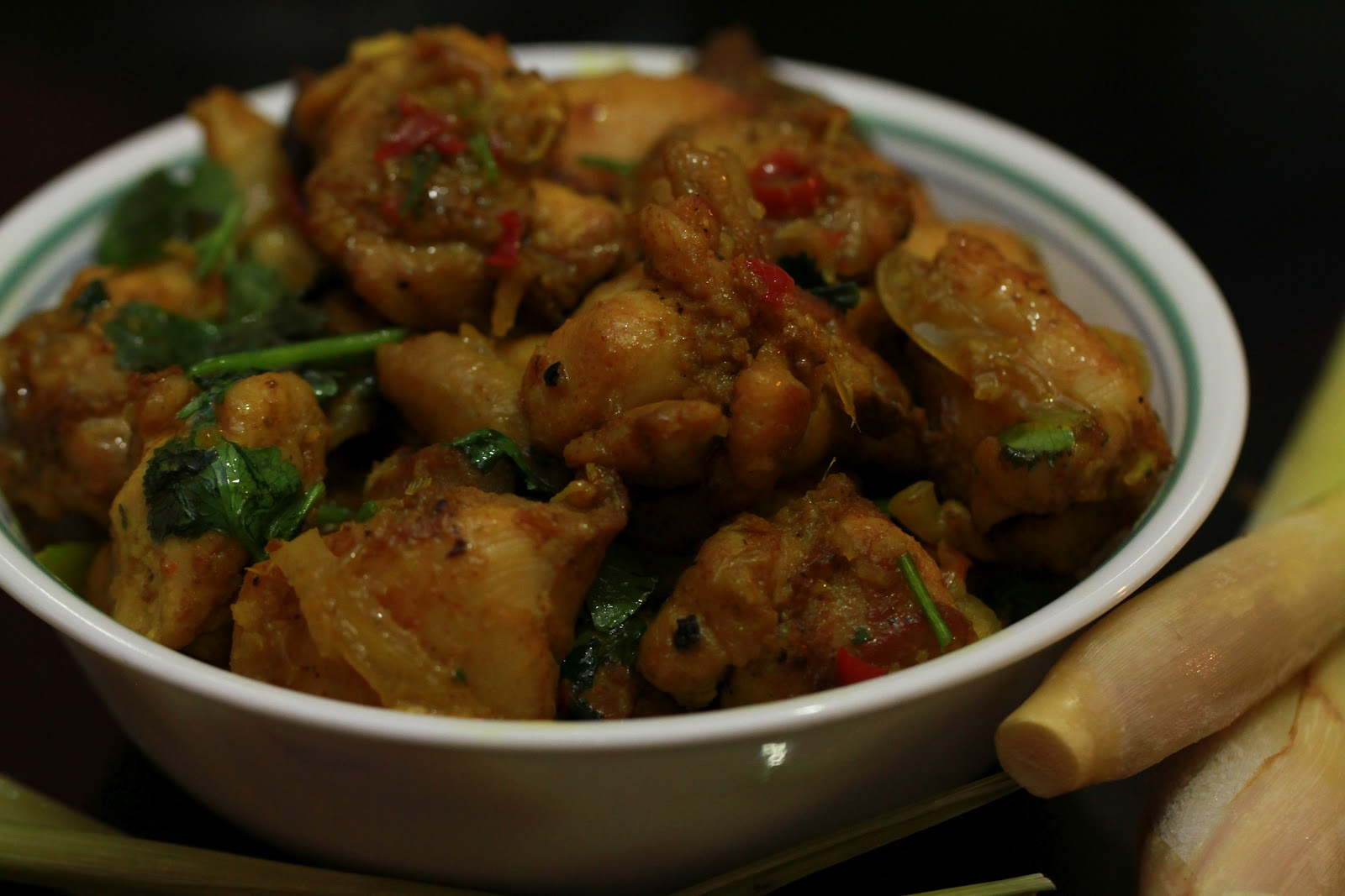 Chicken Stir Fry with Lemongrass,Turmeric and Chilies- Ga Xao voi Xa ...