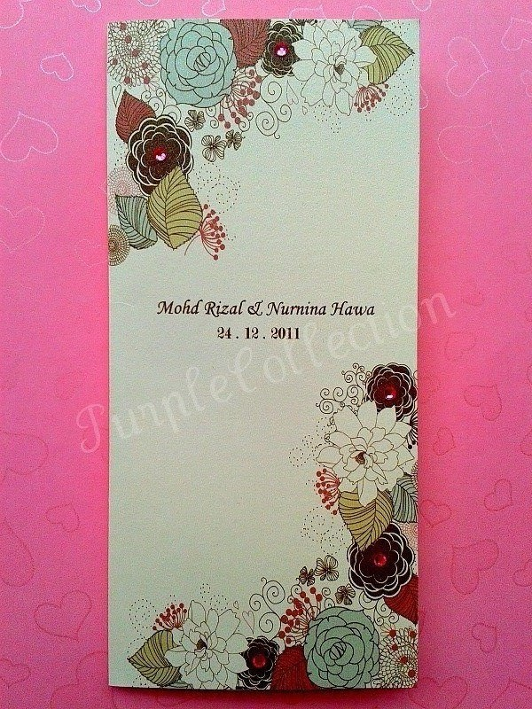 This handmade wedding invitation card comes with matching envelope pink