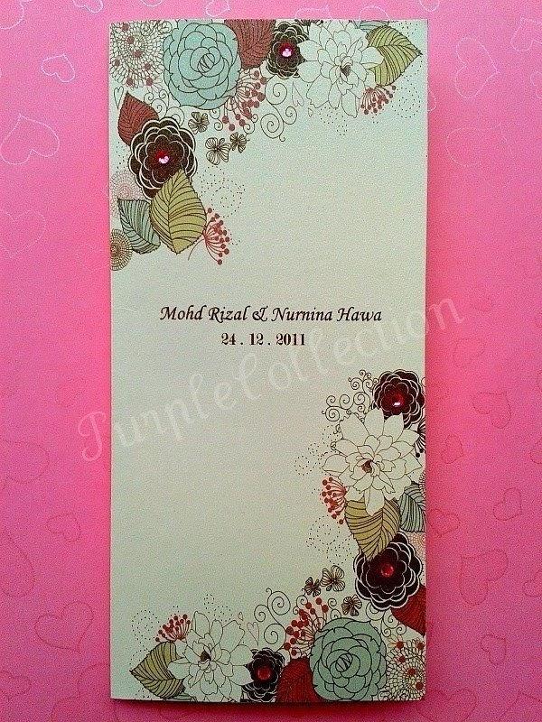 Handmade malay wedding invitation card kad jemputan kahwin stopboris Image collections