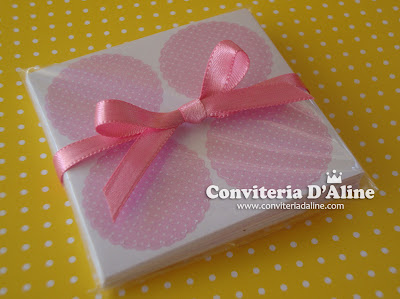 convites para cha bebe rosa