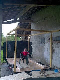 réalisation d'une roulotte en bois