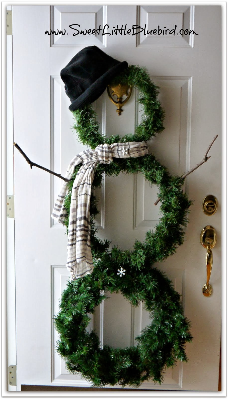 DIY Snowman wreath