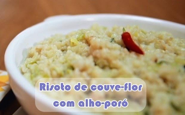 receita bela gil bela cozinha risoto de couve flor