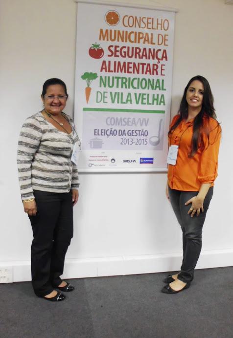Representantes do GESAN-Centro (Maria Helena e Thamires) compõem nova gestão do COMSEA Vila Velha