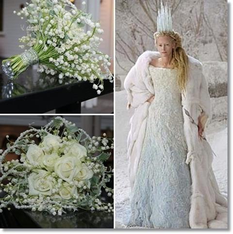 white witch, vita häxan, narnia, isbrud brudbukett vinter