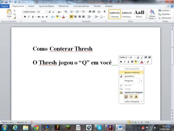 TUTORIAL: COMO COUNTERAR O Q DO THRESH