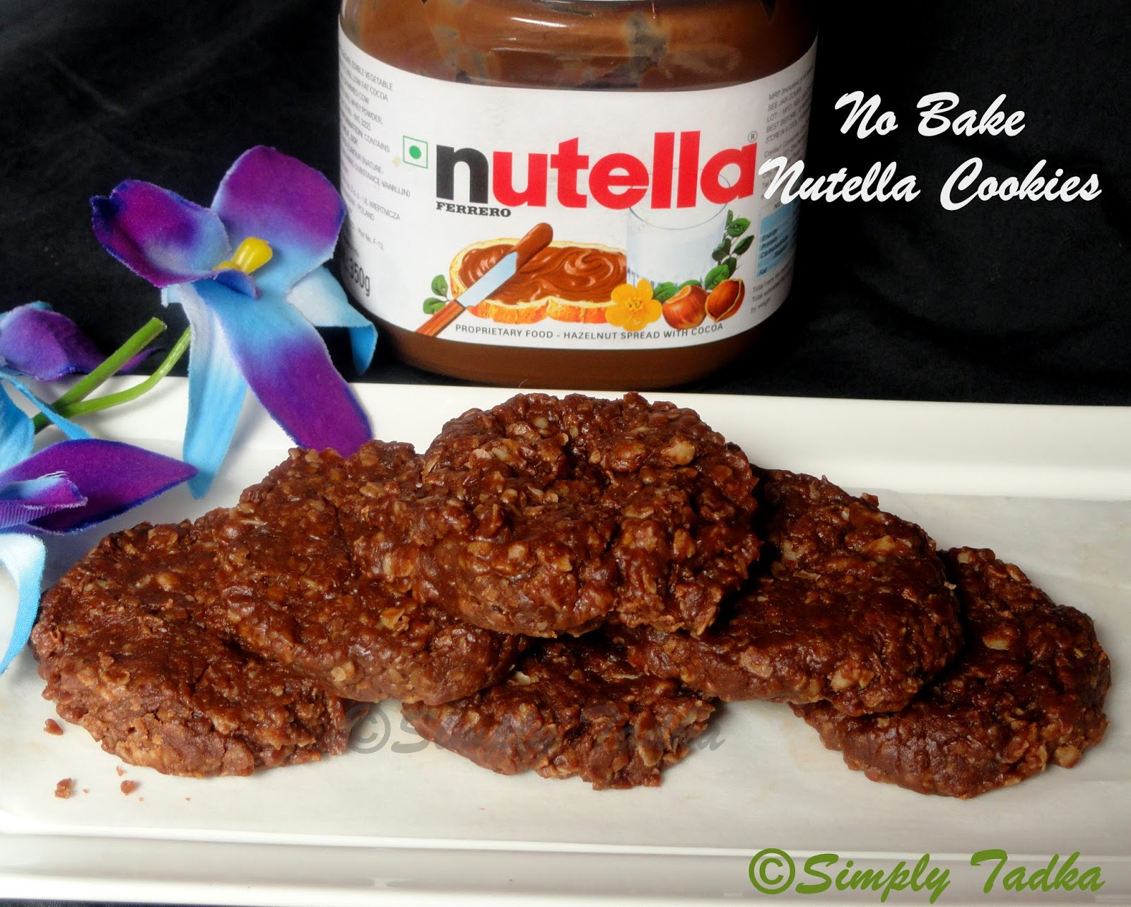No Bake Nutella Oats Cookies ~ Simply TADKA