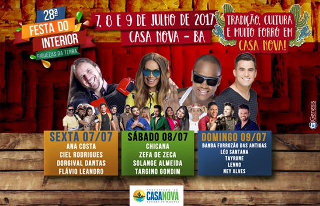 CASA NOVA PROMOVE A 28ª FESTA DO INTERIOR