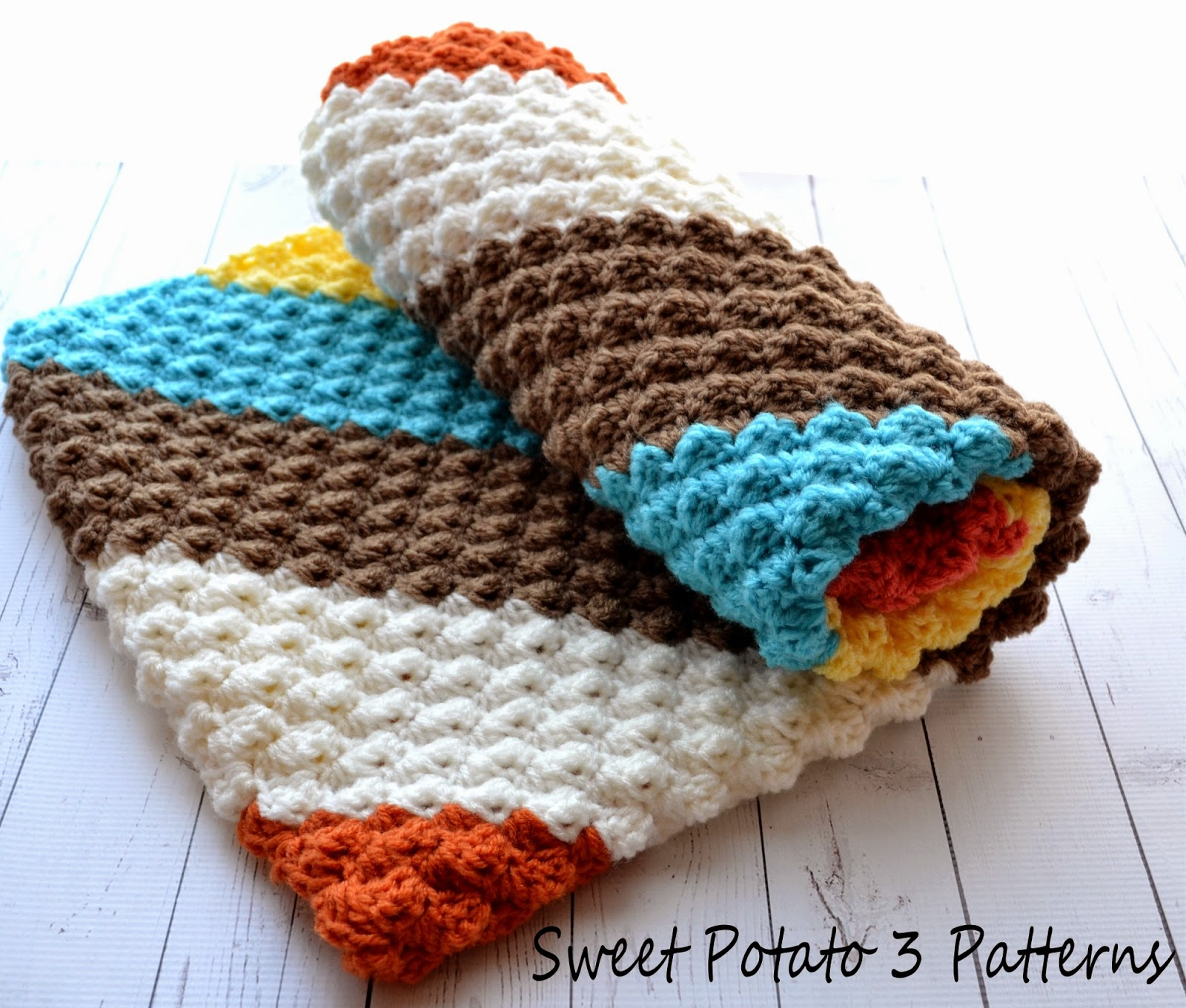 Diagonal Delights Baby Blanket Pattern Release Sweet Potato 3