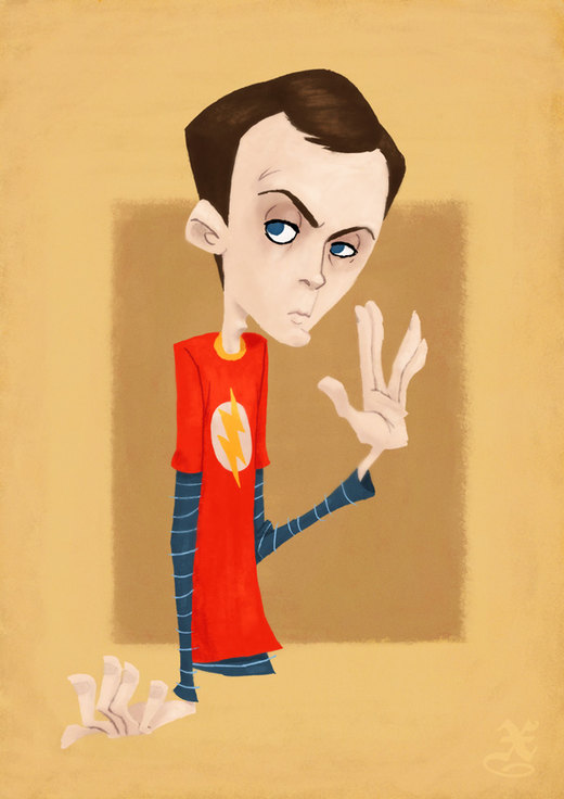 Dr Sheldon Cooper por XAV-Drawordie