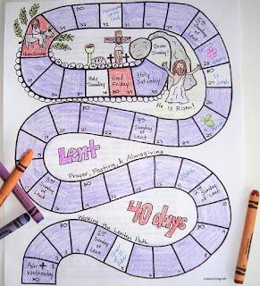 Printable Lenten Calendar for Kids