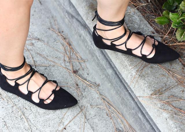 Black lace flats, Current Habits