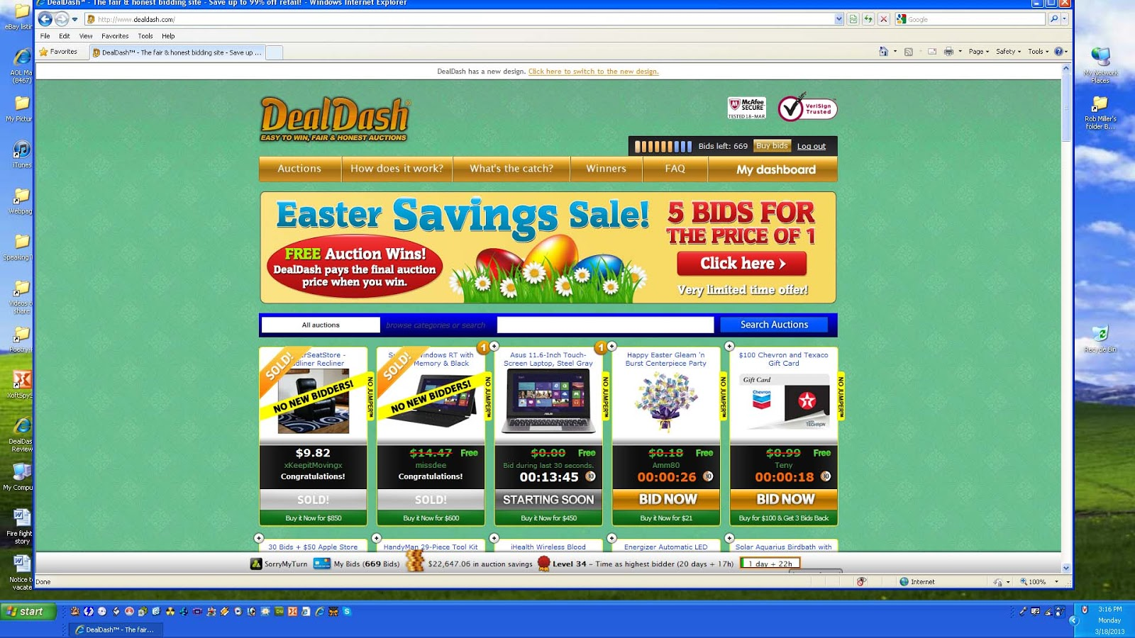 DealDash Shopping Best Special Events
