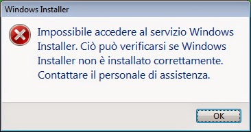 Windows Installer Error