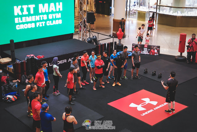 Cross Fit Class by Element Gym and Kit Mah, one of Under Armour Brand Athletes