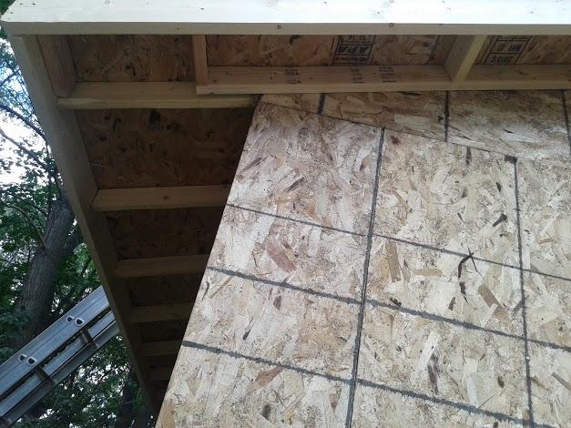 Framing the gables overhangs.