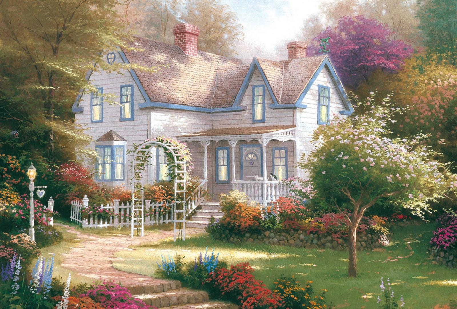 hermosos paisajes con casas de campo muy bonitos