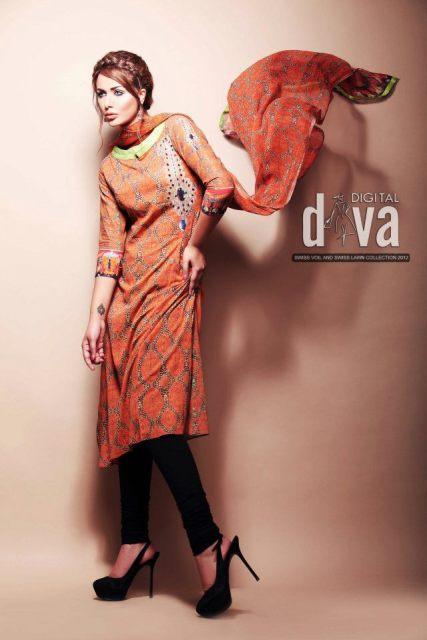 Digital Diva Summer Lawn Collection 2012